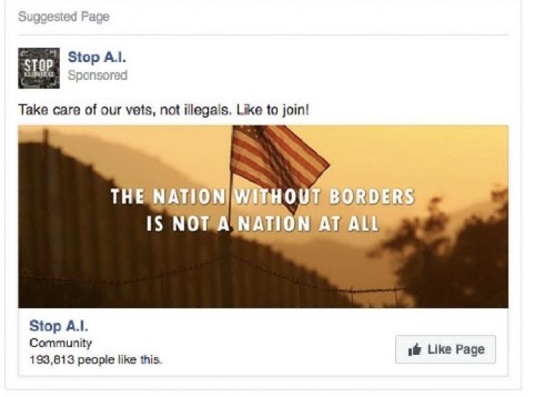 Sample social media ad