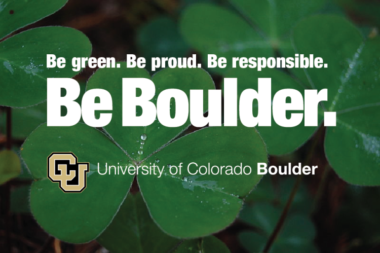Be green. Be Proud. Be Responsible