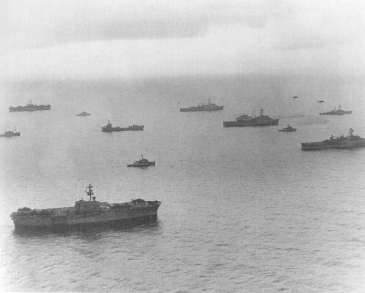 U.S. Navy ships en route to North Vietnam