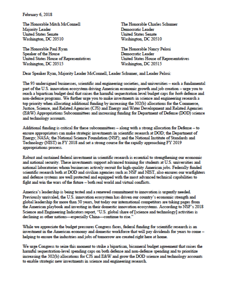 An image of the TFAI letter, linking to the full PDF