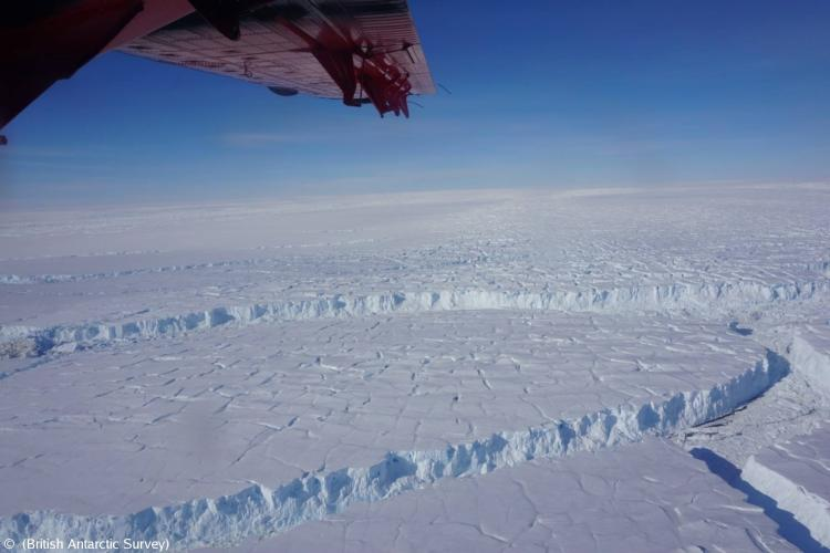 Thwaites Glacier in West Antarctica (Photo provided by British Antarctic Survey)