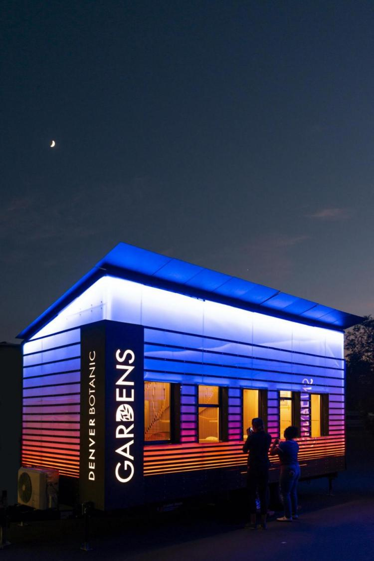 Luminous mobile ticket centers designed by CU Boulder students