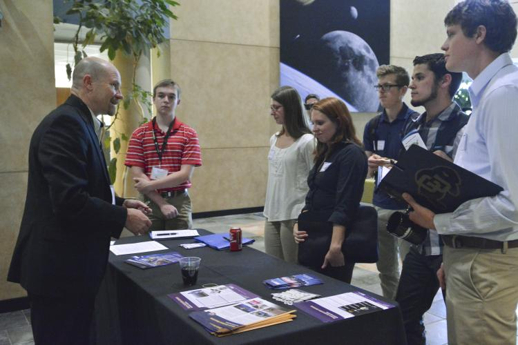 students attending AeroSpace Ventures Day at CU Boulder