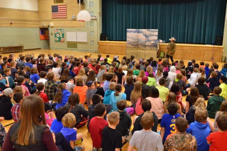Audience of anti-bullying program at Douglas Elementary schools