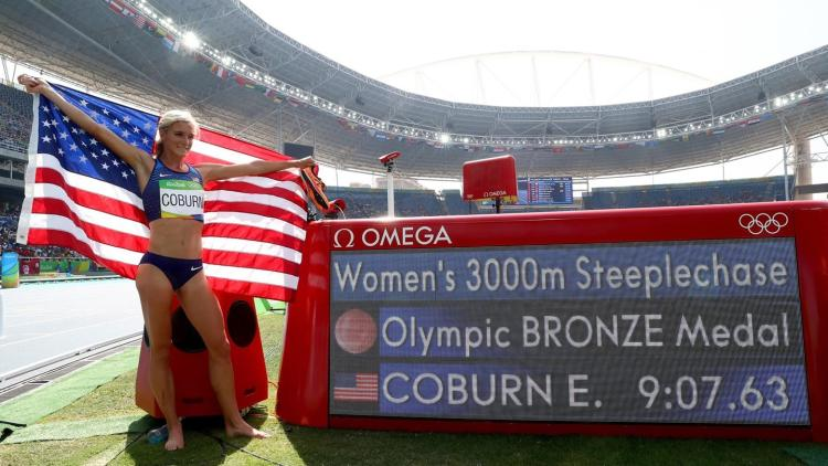 Emma Coburn at the Rio Olympics