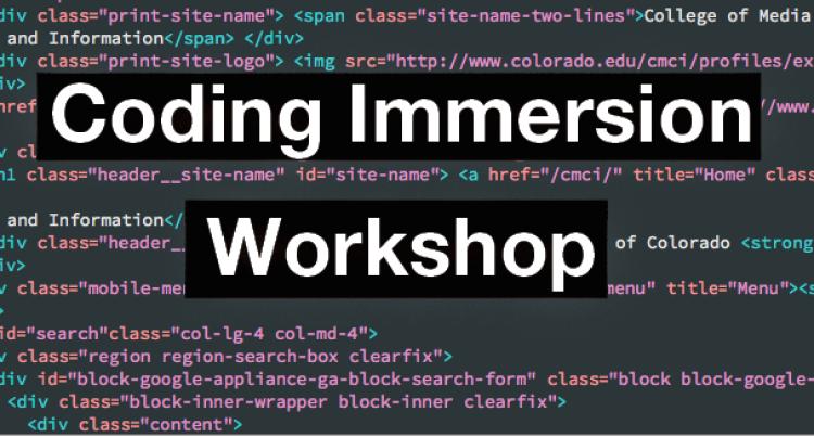 Coding Immersion Workshop