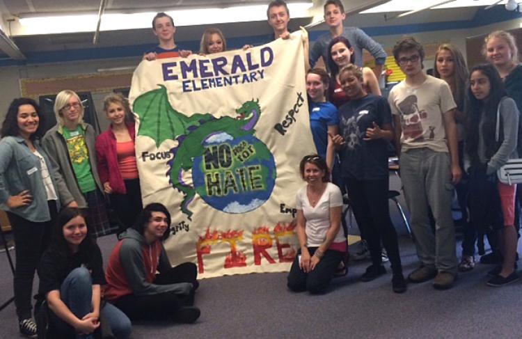 Students at New Vista High School