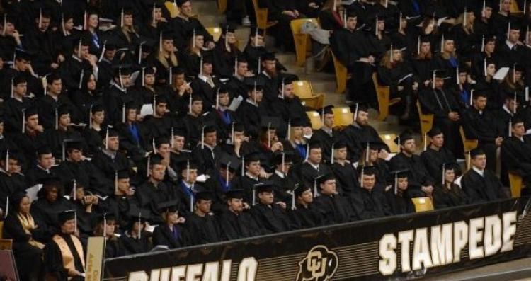 Graduates during Commencement