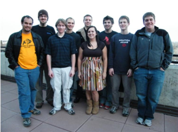 Student's responsible for the Rubik's Cube-sized communication satellite