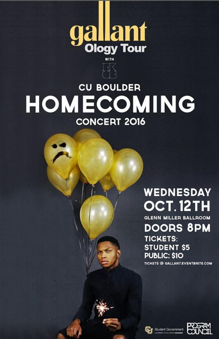 Gallant Homecoming Concert Oct. 12