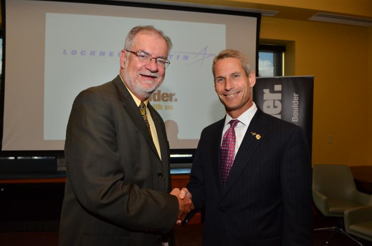 Robert Davis, dean of the College of Engineering and Applied Science, and Lockheed Martin CTO Keoki Jackson