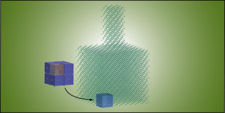 Nanophonic metamaterial