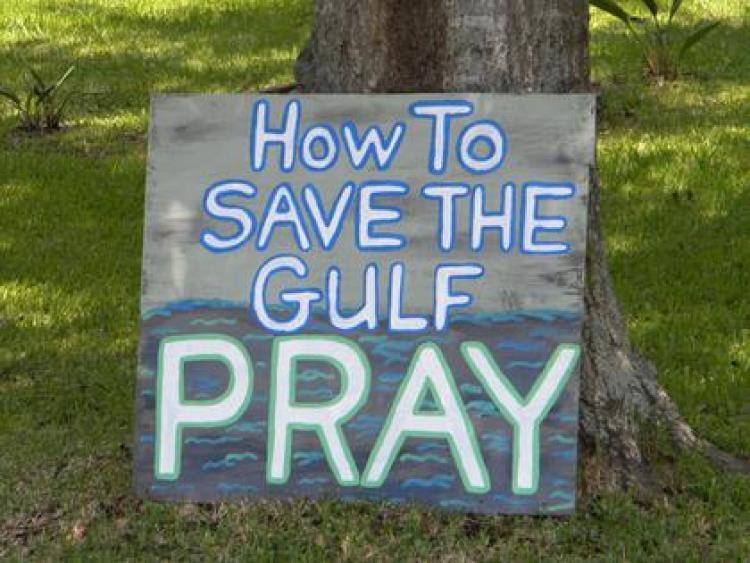 oil spill sign