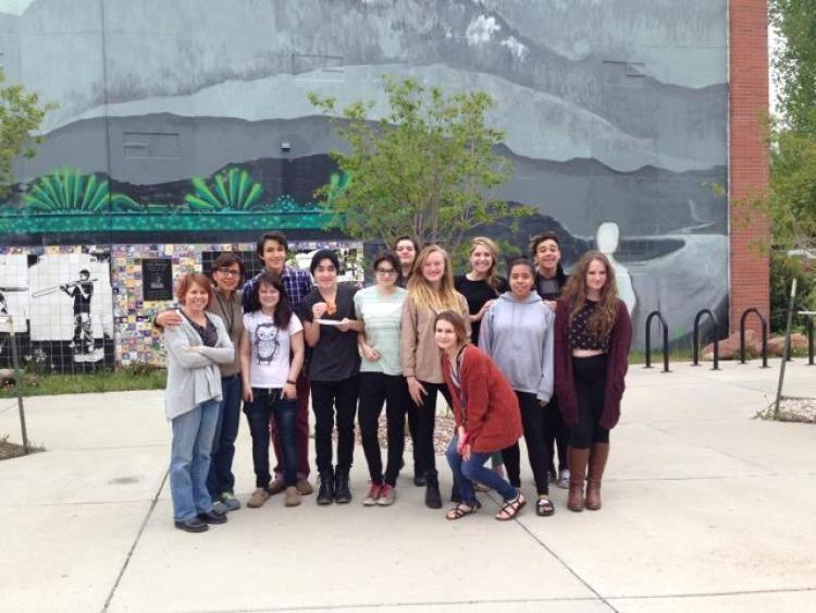 restorative justice team at Boulder's New Vista High School