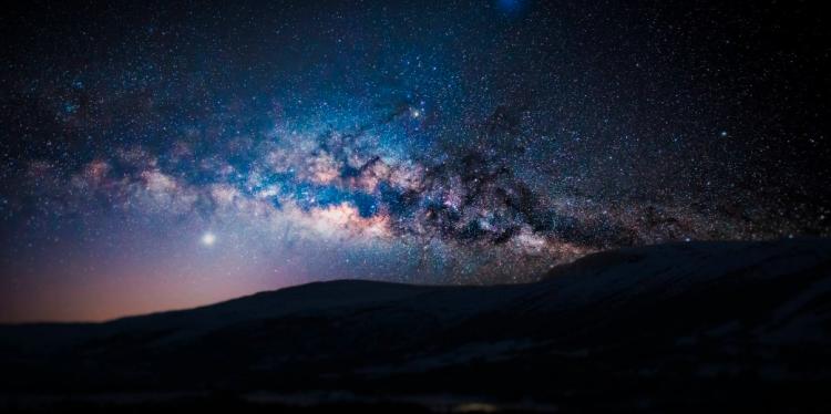Fiske Planetarium night sky.
