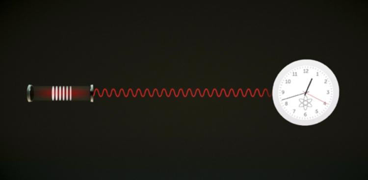 an illustration depicting a super radiant laser