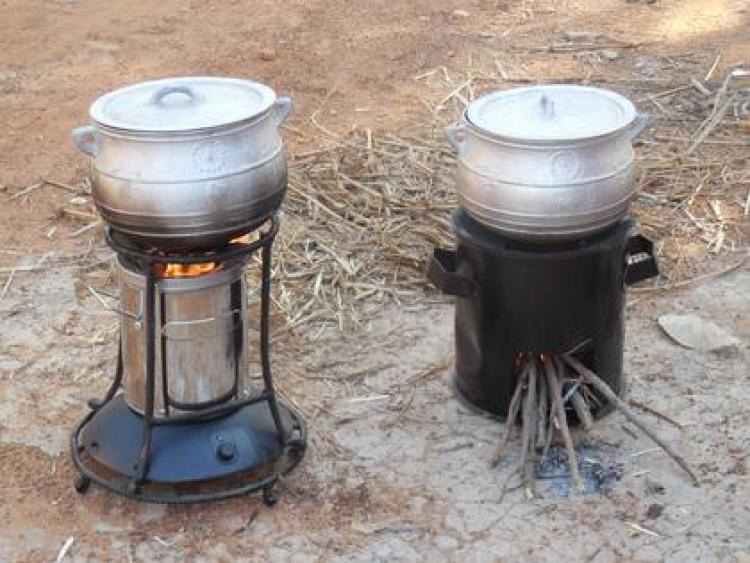 Two pollution reducing stoves