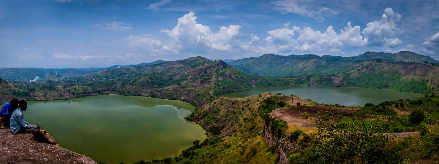 Twin Lakes panorama by Jim Tanton, a volunteer in Uganda. (Photo courtesy Tanton/2013)