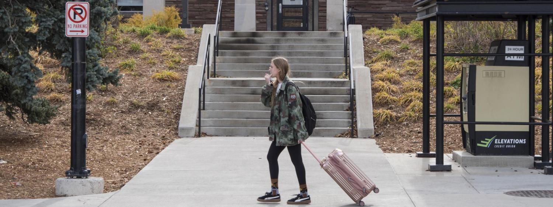 CU Boulder student leaves for break