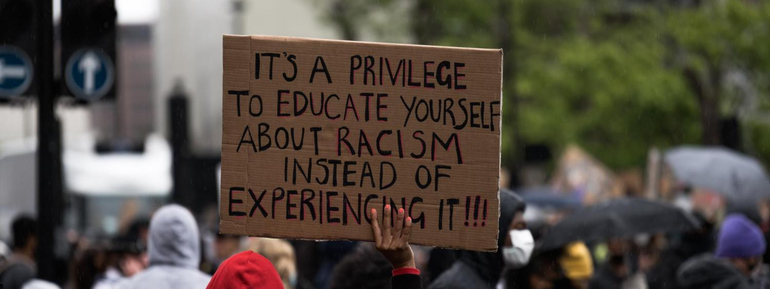 A sign seen at a Black Lives Matter protest