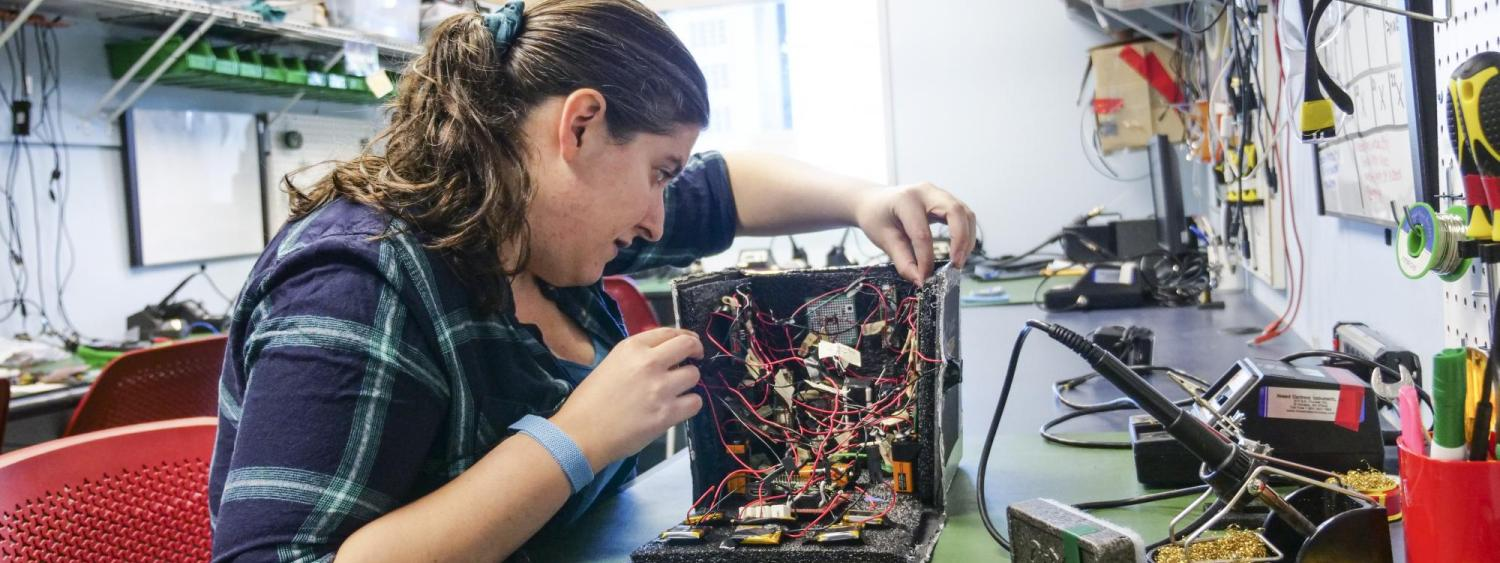 Jamie Principato works on her research project