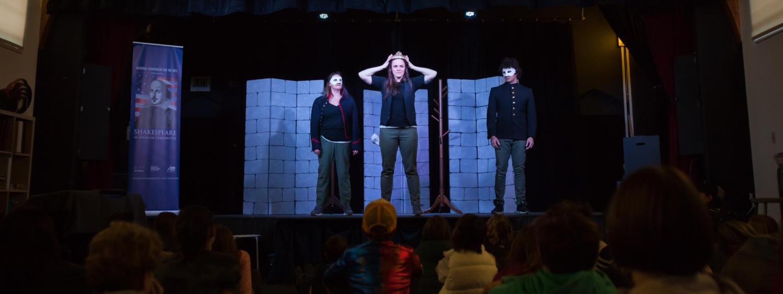 Macbeth performers on stage