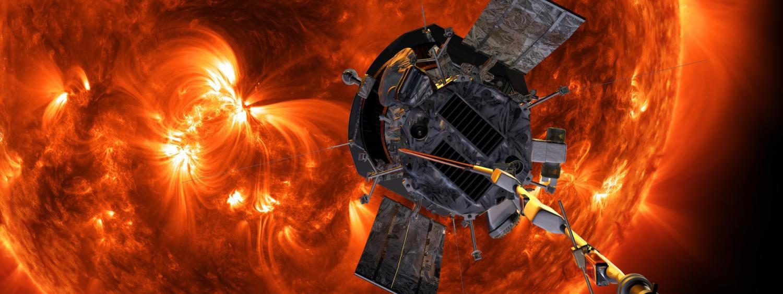 An artist's rendering of Parker Solar Probe orbiting the sun