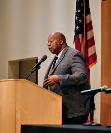 Alphonse Keasley,associate vice chancellor for Office of Diversity, Equity, and Community Engagement, speaks at the fall summit