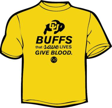 CU Blood Drive Buffs t-shirt
