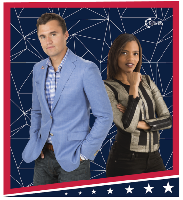 Charlie Kirk and Candace Owens