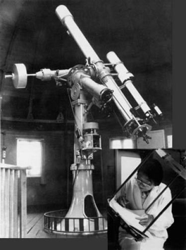 Hisako Koyama at a telescope