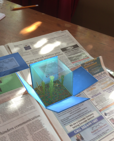 augmented reality with newspaper