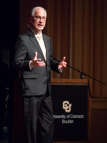 Mark Kennedy addresses Boulder campus during open forum