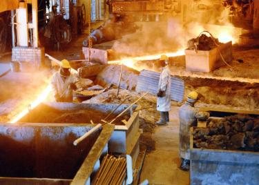 Interior of one section of the mill in Pueblo. (Photo courtesy of Steelworks Center of the West, Pueblo.)