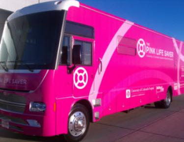 The Pink Life Saver mobile mammography bus