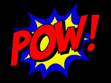 """comic book """"pow"""" graphic"""
