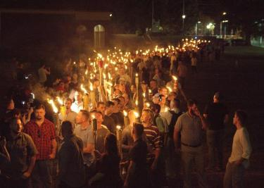 a rally in Charlottesville, virginia