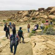 Students explore field sites