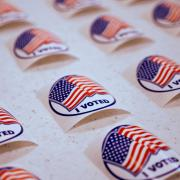 I voted stickers (Glenn Asakawa/University of Colorado Boulder)