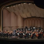 The CU Symphony performing on stage