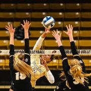CU Volleyball players