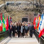 The opening procession of the 69th Conference on World Affairs in 2017.