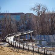 The new 19th Street Bridge connecting downtown Boulder and Main Campus