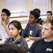 Diverse students in classroom