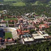 Aerial of CU Boulder