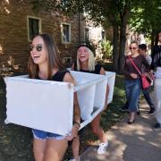 A scene from CU Boulder Move-In 2016.