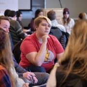 People converse during the 2017 Diversity and Inclusion Summit at CU Boulder