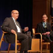 Chancellor Philip P. DiStefano answers questions during State of the Campus 2017
