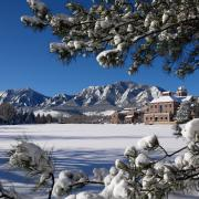 CU Boulder campus in the snow