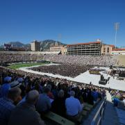 2017 commencement ceremony at Folsom Field
